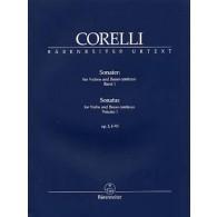 CORELLI A. 12 SONATAS OP 5 VOL 1 VIOLON