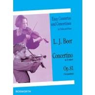 BEER L.J. CONCERTINO RE MINEUR OP 81 VIOLON