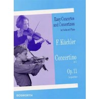KUCHLER F. CONCERTINO SOL MAJEUR OP 11 VIOLON