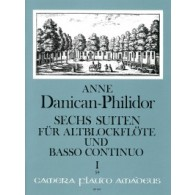DANICAN-PHILIDOR P. SUITES VOL 1  FLUTE A BEC ALTO