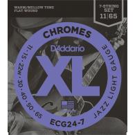 JEU DE CORDES D'ADDARIO XL JAZZ LIGHT 7 CORDES