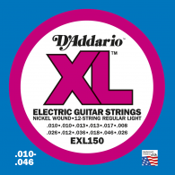 JEU DE CORDES D'ADDARIO REGULAR SUPER LIGHT/7C EXL150
