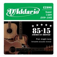 JEU DE CORDES ACOUSTIQUE D'ADDARIO EZ890 85/100 BRONZE 09/45