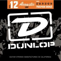 JEU DE CORDES ACOUSTIQUE DUNLOP STRINGS DAP1254 PHOSPHOR BRONZE 12/54