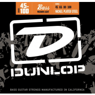 JEU DE CORDES BASSE DUNLOP STRINGS DBN45100 FILE ROND NICKEL 45/100