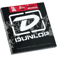 JEU DE CORDES BASSE DUNLOP STRINGS DBN45105 FILE ROND NICKEL 45/105
