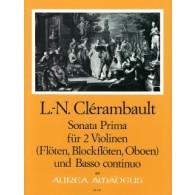 CLERAMBAULT L.N. SONATA PRIMA 2 VIOLONS