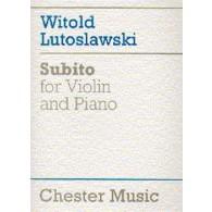 LUTOSLAWSKI W. SUBITO VIOLON