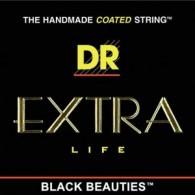 JEU DE CORDES BASSE DR BKB-45 EXTRA LIFE BLACK BEAUTIES 45/105