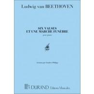 BEETHOVEN L. 6 VALSES 1 MARCHE PIANO
