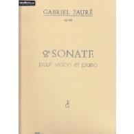 FAURE G. SONATE N°2 OP 108 VIOLON