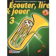 ECOUTER LIRE JOUER VOL 3 BARYTON/EUPHONIUM/SAXHORN CLE DE SOL
