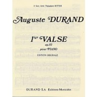 DURAND A. 1RE VALSE OP 83 PIANO