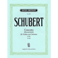 SCHUBERT F. CONCERTO RE MAJEUR D 345 VIOLON