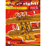 VELDKAMP E. PLAY ' EM RIGHT! ROCK VOL 1 TROMPETTE SOLO