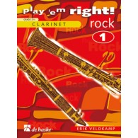 VELDKAMP E. PLAY ' EM RIGHT! ROCK VOL 1 CLARINETTE SOLO
