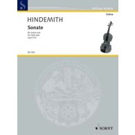 HINDEMITH P. SONATE OP 31 N°2 VIOLON SOLO