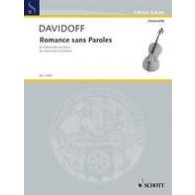 DAVIDOFF K. ROMANCE SANS PAROLES FOR CELLO