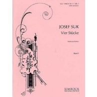 SUK J. 4 STUCKE OP 17 VOL 1 VIOLON