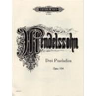 MENDELSSOHN F. PRELUDES OP 104a PIANO