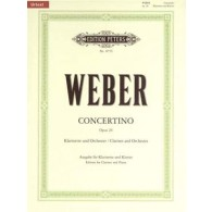WEBER C.M. CONCERTINO OP 26 CLARINETTE