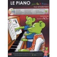 ASTIE C. LE PIANO POUR LES 5/8 ANS TOUT SIMPLEMENT