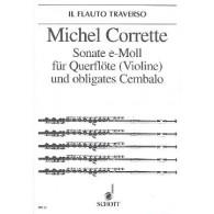 CORRETTE M. SONATE MI MINEUR OP 25/4 FLUTE