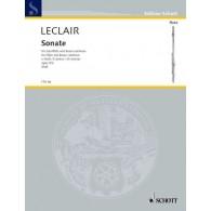 LECLAIR J.M. SONATE MI MINEUR OP 9/2 FLUTE