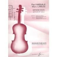 HADJAJE P./CARLES M. METHODE D'ALTO VOL 2