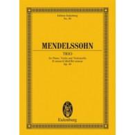 MENDELSSOHN F. TRIO OP 49 PIANO ET CORDES CONDUCTEUR