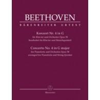 BEETHOVEN L. CONCERTO N°4 OP 58 PIANO ET QUINTETTES A CORDES