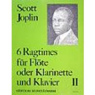 JOPLIN S. 6 RAGTIMES VOL 2 FLUTE/CLARINETTE/BASSON