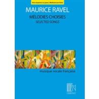 RAVEL M. MELODIES CHOISIES VOIX MOYENNE OU GRAVE