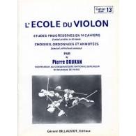 DOUKAN P. ECOLE DU VIOLON ETUDES PROGRESSIVES VOL 13