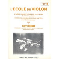 DOUKAN P. ECOLE DU VIOLON ETUDES PROGRESSIVES VOL 9