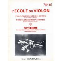DOUKAN P. ECOLE DU VIOLON ETUDES PROGRESSIVES VOL 11
