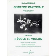 MILHAUD D. SONATINE PASTORALE VIOLON SOLO