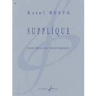 BEFFA K. SUPPLIQUE VIOLON SOLO