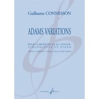 CONNESSON G. ADAMS VARIATIONS CLARINETTE SIB, VIOLON, VIOLONCELLE ET PIANO