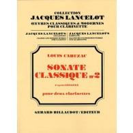 CAHUZAC L. SONATE CLASSIQUE N°2 CLARINETTES