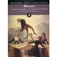 MOZART WORLD'S GREAT CLASSICAL MUSIC EASY TO INTERM. PIANO SOLO