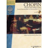 CHOPIN SELECTED PRELUDES PIANO + CD