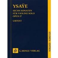 YSAYE E. SONATES OP 27 VIOLON SOLO