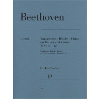 BEETHOVEN L. VARIATIONTIONEN RONDO DANSES  VIOLON