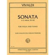 VIVALDI A. SONATE MI MINEUR RV40 ALTO