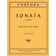 PORPORA N. SONATA SOL MAJEUR ALTO