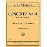 VIEUXTEMPS H. CONCERTO N°4 OP 31 VIOLON