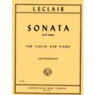 LECLAIR J.M. SONATA D MAJOR VIOLON