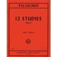 PALASCHKO J. 12 ETUDES OP 55 ALTO