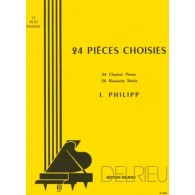 PHILIPP I. 24 PIECES CHOISIES PIANO